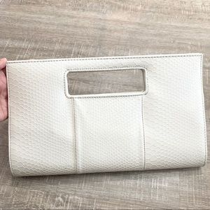 Charming Charlie Bags - Charming Charlie Snap Closure Cream Clutch